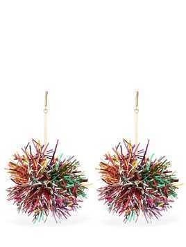 LUREX POM POM DROP EARRINGS