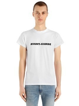 AVANT-GARDE HEAVY COTTON JERSEY T-SHIRT
