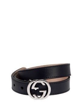 INTERLOCKING G LEATHER BELT