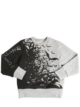 BATS PRINTED COTTON SWEATSHIRT