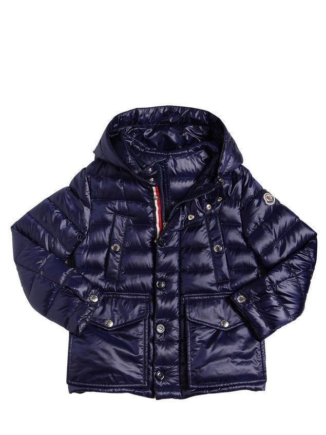 YVAN HOODED NYLON DOWN JACKET