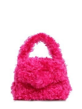 MOHAIR TOP HANDLE BAG