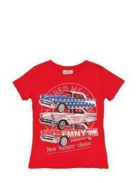 CAR PRINT COTTON JERSEY T-SHIRT