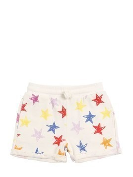 STAR PRINTED COTTON SWEAT SHORTS