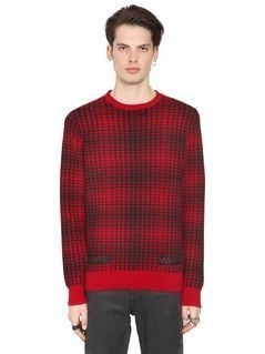 GEELONG LAMBS WOOL PLAID SWEATER