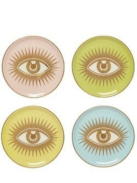 LE WINK SET OF 4 PORCELAIN COASTERS