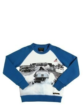 CAR PRINTED COTTON SWEATSHIRT