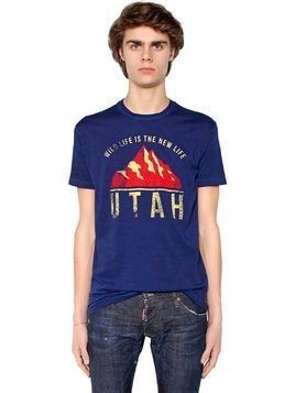 UTAH PRINTED COTTON JERSEY T-SHIRT