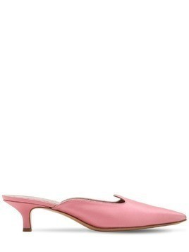 30MM SATIN KITTEN HEEL MULES