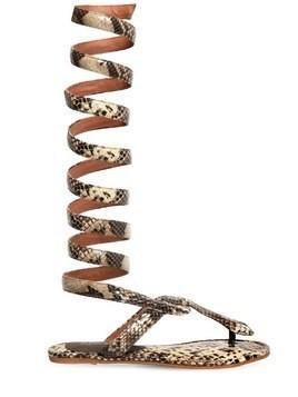 10MM SNAKE PRINT LEATHER SANDALS