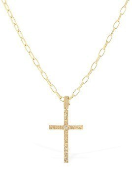 PIRIPONO CROSS NECKLACE W/ DIAMONDS