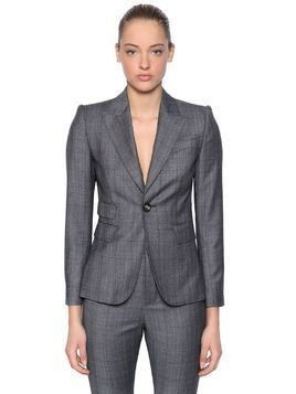 WOOL PRINCE OF WALES SUIT
