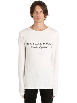 LOGO COTTON JERSEY LONG SLEEVE T-SHIRT