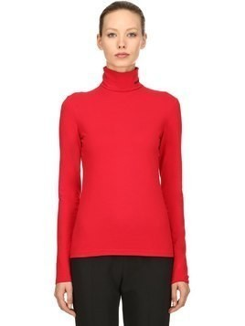 COTTON KNIT TURTLENECK SWEATER