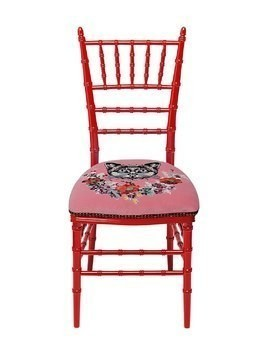 CHIAVARI CHAIR WITH EMBROIDERED CAT