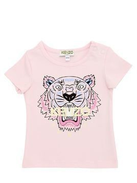 TIGER PRINTED COTTON JERSEY T-SHIRT