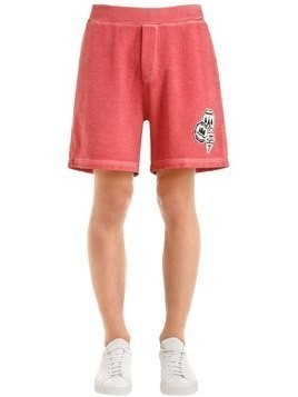 CAMPING PATCH COTTON JERSEY SWEAT SHORTS