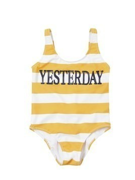YESTERDAY PRINT LYCRA ONE PIECE SWIMSUIT