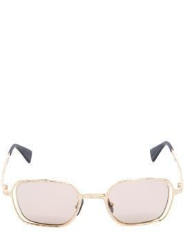 GOLD COLORED METAL SQUARE SUNGLASSES