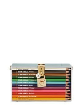 DOLCE BOX CLUTCH W/ COLORED PENCILS