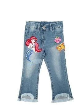 MERMAID STRETCH COTTON DENIM JEANS