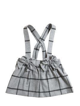 PLAID FLANNEL SKIRT W/ SUSPENDERS