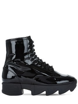 45MM PATENT LEATHER BOOTS