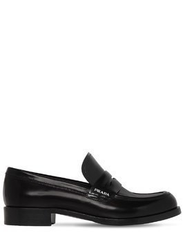 30MM BRUSHED LEATHER LOAFERS