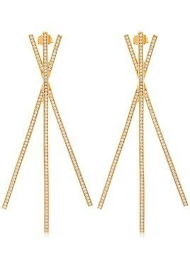 CRISS CROSS STATEMENT EARRINGS
