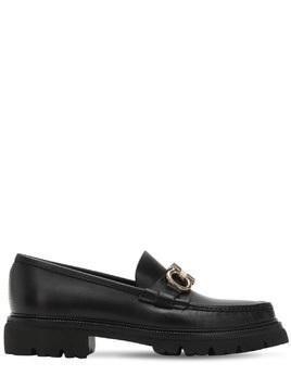 BLEEKER LOGO LEATHER LOAFERS