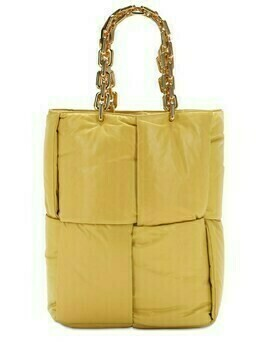 The Chain Intrecciato Leather Tote Bag