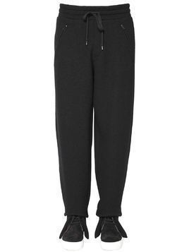 20CM WOOL COTTON JERSEY JOGGING PANTS
