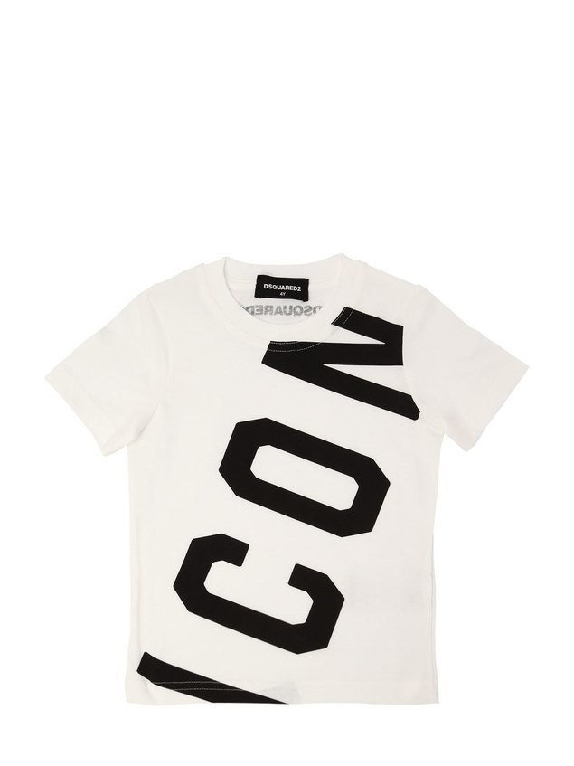 ICON PRINTED COTTON JERSEY T-SHIRT