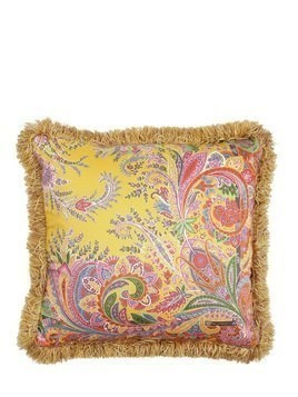 RONDA PRINTED COTTON & SILK PILLOW