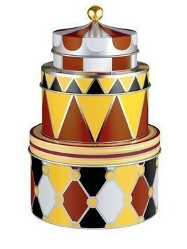 CIRCUS SET OF 3 TIN CONTAINERS