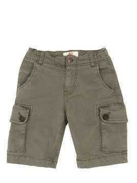 STRETCH COTTON GABARDINE CARGO SHORTS