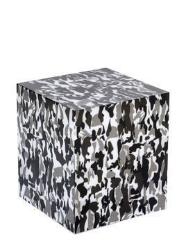 CAMOUFLAGE PRINTED ACCENT TABLE