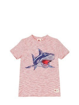 SHARK STRIPE COTTON JERSEY T-SHIRT
