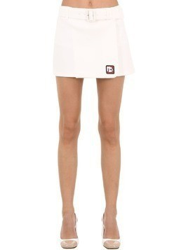 LOGO PATCH TECHNO JERSEY MINI SKIRT
