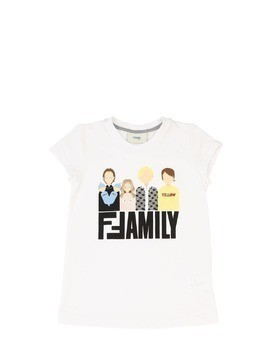 FAMILY PRINTED COTTON JERSEY T-SHIRT