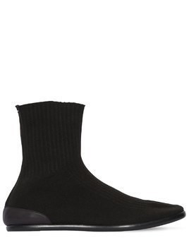 BRUSHED NYLON KNIT TABI BOOTS