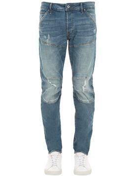 5620 3D SLIM DESTROYED DENIM JEANS