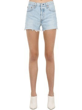 501 HIGH RISE COTTON DENIM SHORTS