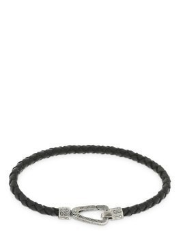 BLACK LASH BRAIDED LEATHER BRACELET