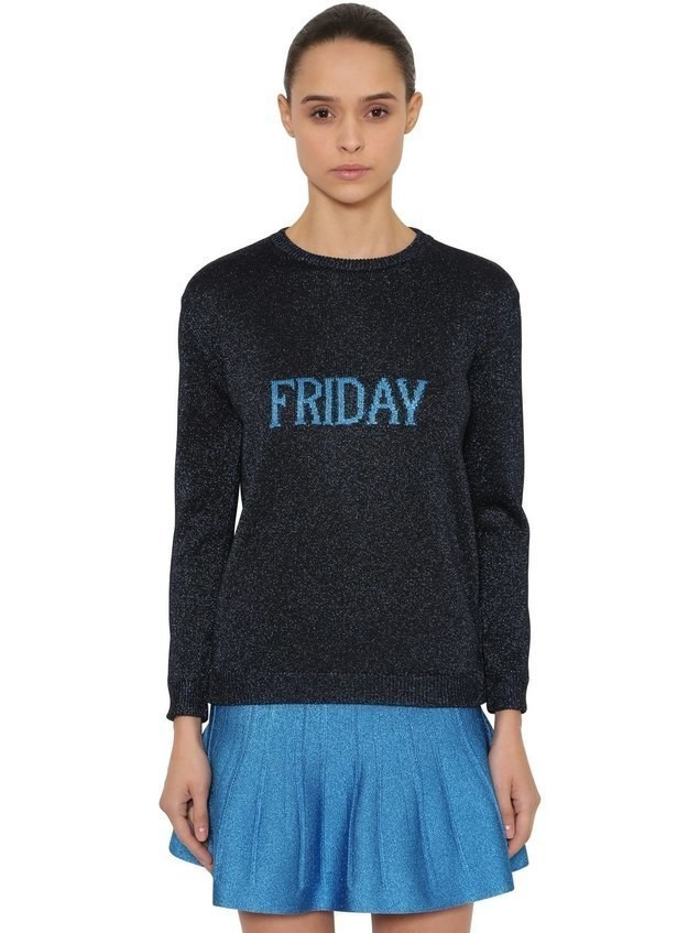 OVERSIZED FRIDAY LUREX KNIT SWEATER