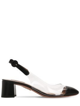 50MM OPTIC PLEXI & LEATHER PUMPS