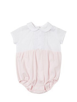 COTTON MUSLIN & JERSEY BODYSUIT
