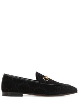 10MM NEW JORDAN GG VELVET LOAFERS