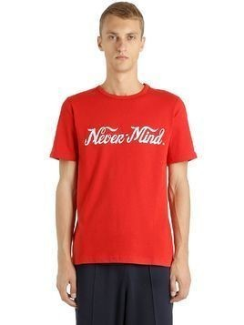 NEVER MIND PRINTED COTTON JERSEY T-SHIRT