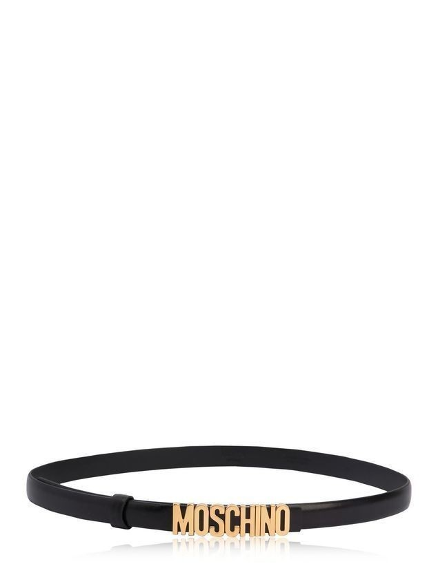 20MM MOSCHINO HIGH WAIST LEATHER BELT